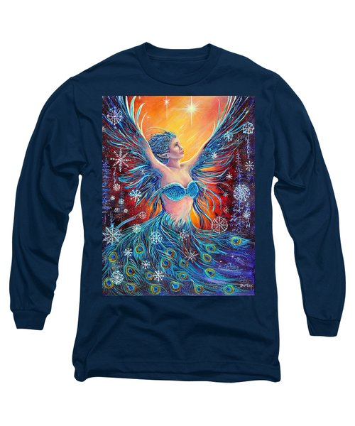 Christmas Spirit Long Sleeve T-Shirt by Gail Butler