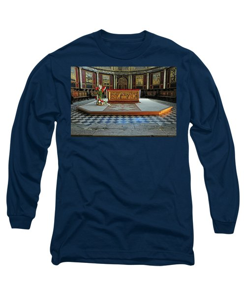 Long Sleeve T-Shirt featuring the photograph Church Alter Provence France by Dave Mills