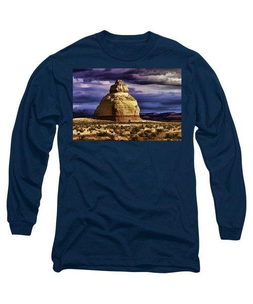 Long Sleeve T-Shirt featuring the painting Church Rock  by Muhie Kanawati