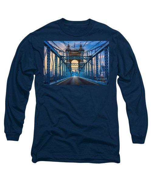 Cincinnati Suspension Bridge Long Sleeve T-Shirt