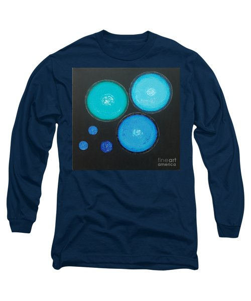 Long Sleeve T-Shirt featuring the painting Circles Of My Mind by Mini Arora