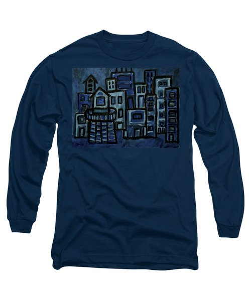 City At Night Long Sleeve T-Shirt