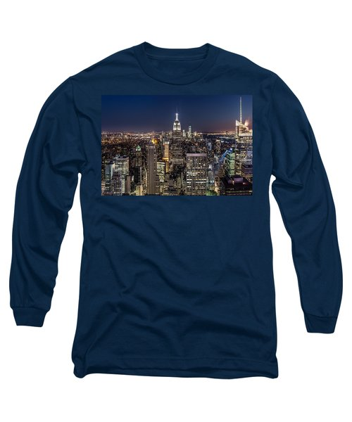 Long Sleeve T-Shirt featuring the photograph City Lights by Mihai Andritoiu
