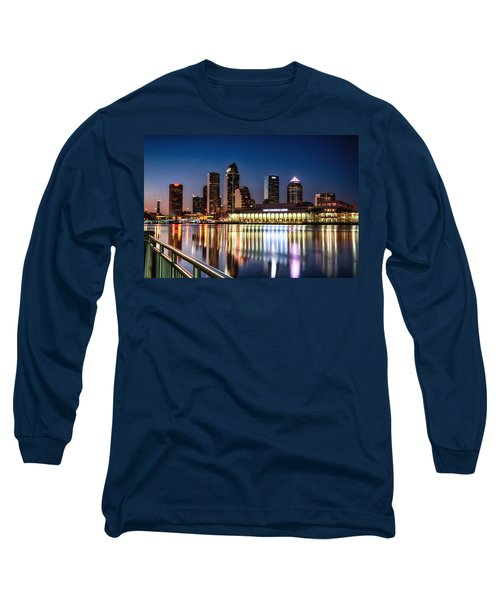 City Of Tampa Skyline  Long Sleeve T-Shirt by Michael White