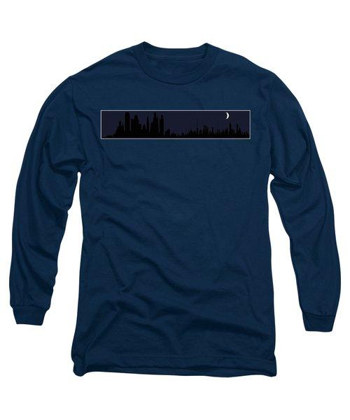 Long Sleeve T-Shirt featuring the digital art City Skyline... by Tim Fillingim
