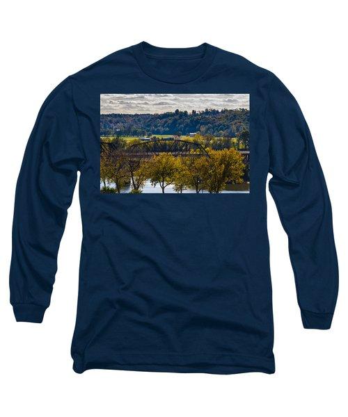 Clarksville Railroad Bridge Long Sleeve T-Shirt