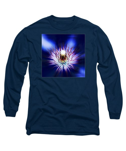 Long Sleeve T-Shirt featuring the photograph Clemantis Center by Nick Kloepping