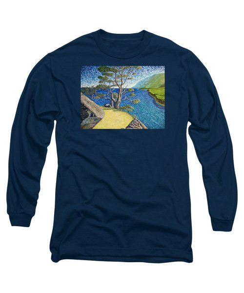 Long Sleeve T-Shirt featuring the painting Cliff by Viktor Lazarev