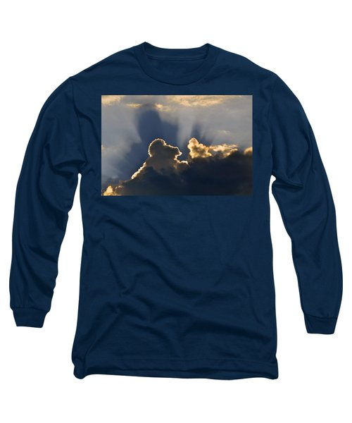 Long Sleeve T-Shirt featuring the photograph Cloud Shadows by Charlotte Schafer