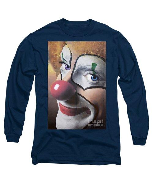 Clown Mural Long Sleeve T-Shirt by Bob Christopher