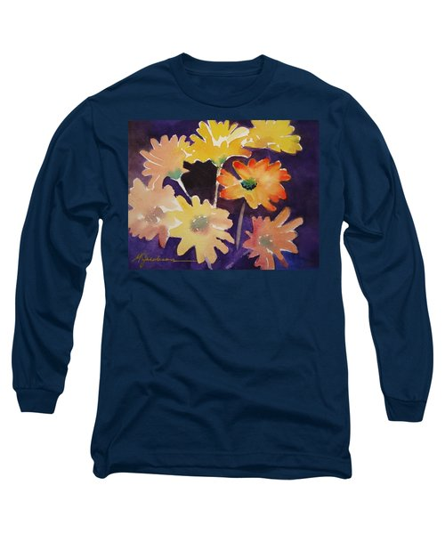 Long Sleeve T-Shirt featuring the painting Color And Whimsy by Marilyn Jacobson