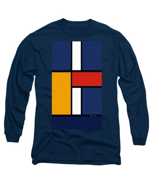 Color Squares - Mondrian Inspired Long Sleeve T-Shirt