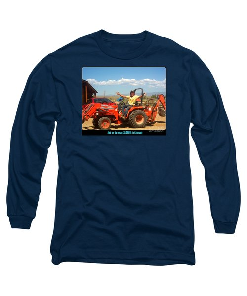Colorful In Colorado Long Sleeve T-Shirt by Kelly Awad