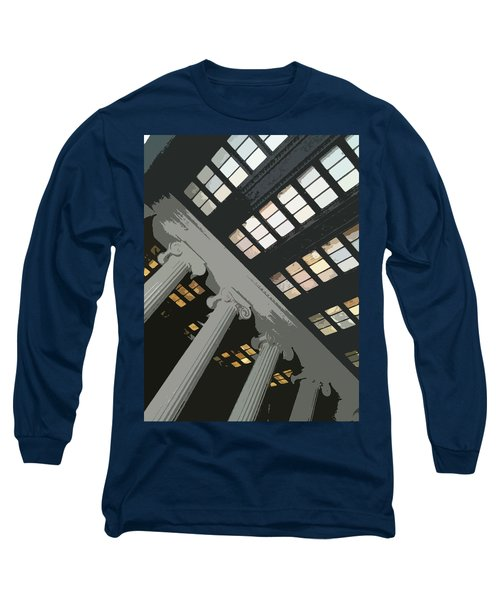 Columns Long Sleeve T-Shirt by Julio Lopez