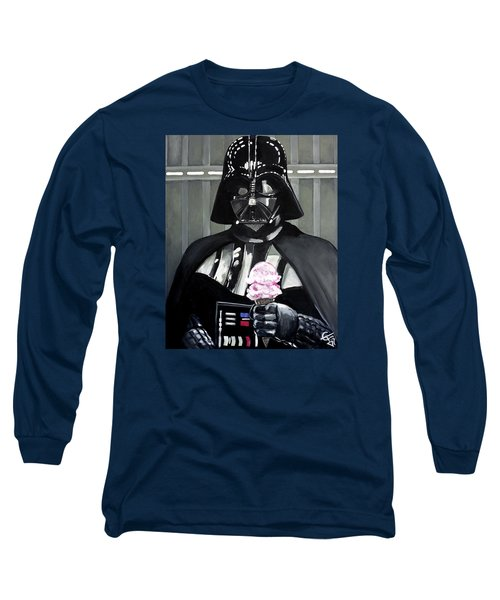 Come To The Dark Side... We Have Ice Cream. Long Sleeve T-Shirt by Tom Carlton