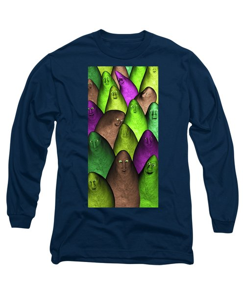 Long Sleeve T-Shirt featuring the digital art Community 2 by Gabiw Art