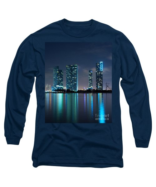 Long Sleeve T-Shirt featuring the photograph Condominium Buildings In Miami by Carsten Reisinger