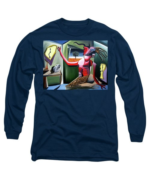 Long Sleeve T-Shirt featuring the painting Contemplifluxuation by Ryan Demaree