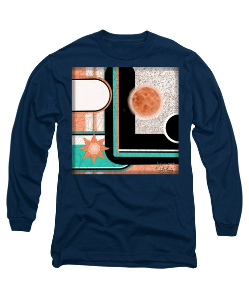 Long Sleeve T-Shirt featuring the painting Coral Moon by Carol Jacobs
