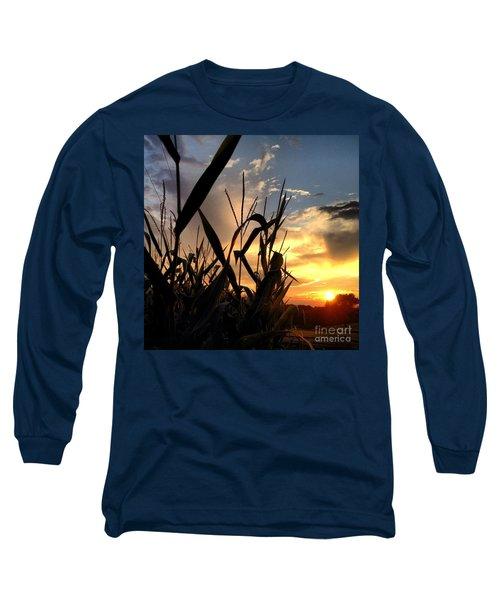 Cornfield Sundown Long Sleeve T-Shirt