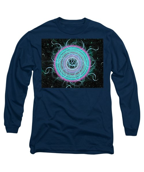 Cosmic Circle Long Sleeve T-Shirt by Shawn Dall