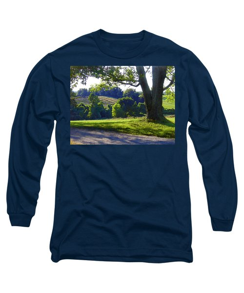 Country Landscape Long Sleeve T-Shirt by Steve Karol