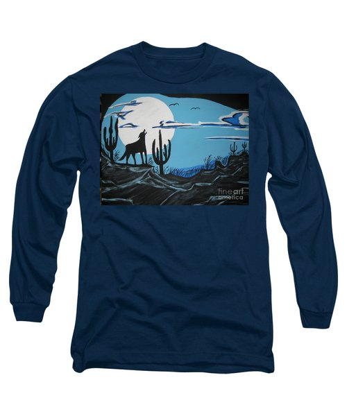Long Sleeve T-Shirt featuring the painting Coyote by Jeffrey Koss
