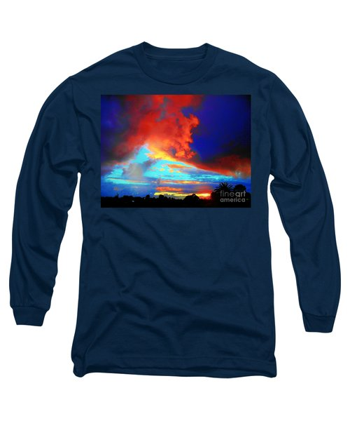 Strange Sunset Long Sleeve T-Shirt by Mark Blauhoefer