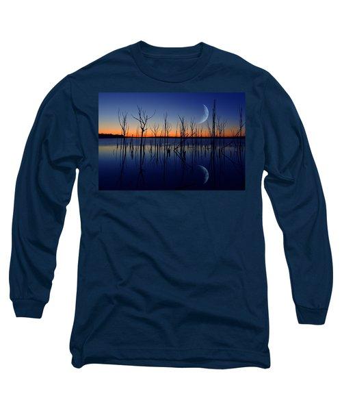 The Crescent Moon Long Sleeve T-Shirt by Raymond Salani III