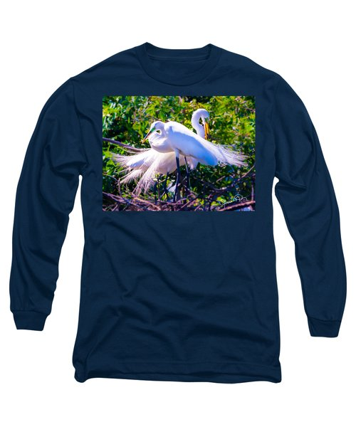 Criss-cross Egrets Long Sleeve T-Shirt