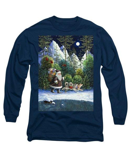 Cross-country Santa Long Sleeve T-Shirt
