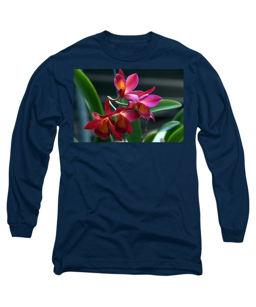 Ctna New River Orchid Long Sleeve T-Shirt by Greg Allore