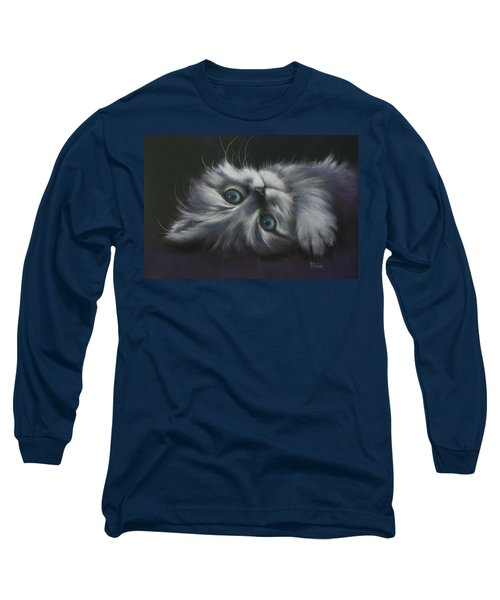 Long Sleeve T-Shirt featuring the drawing Cuddles by Cynthia House