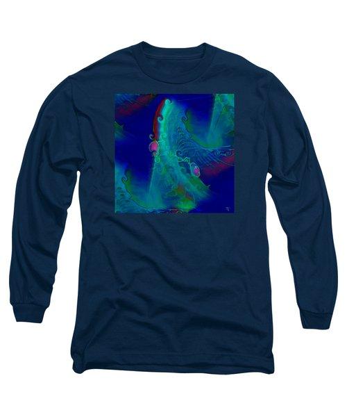 Cursive Long Sleeve T-Shirt by  Fli Art