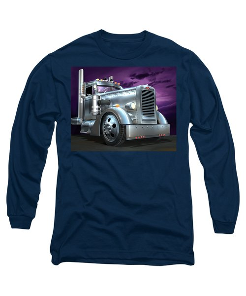 Custom Peterbilt Silver Ghost Long Sleeve T-Shirt by Stuart Swartz
