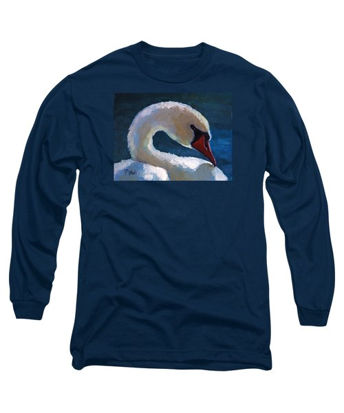 Long Sleeve T-Shirt featuring the painting Cygnus by Pattie Wall