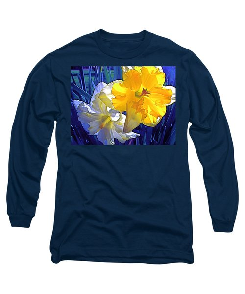 Daffodils 1 Long Sleeve T-Shirt by Pamela Cooper