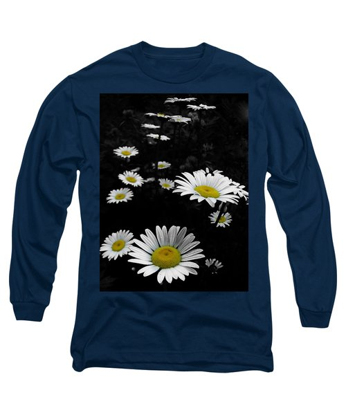 Daisies Long Sleeve T-Shirt by GJ Blackman