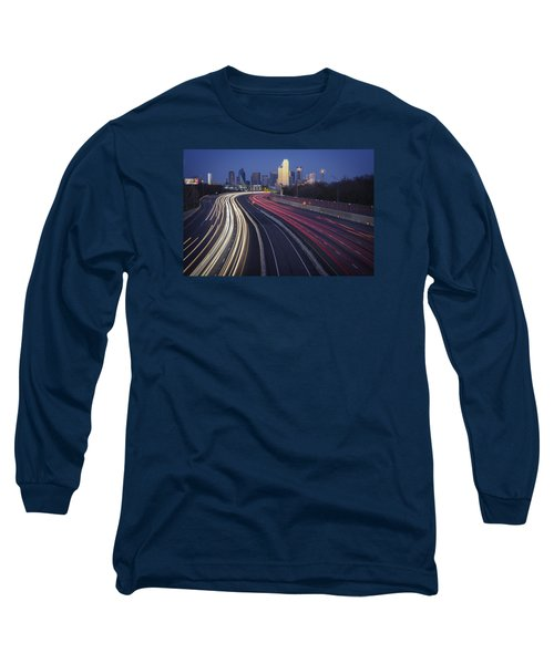 Dallas Afterglow Long Sleeve T-Shirt by Rick Berk