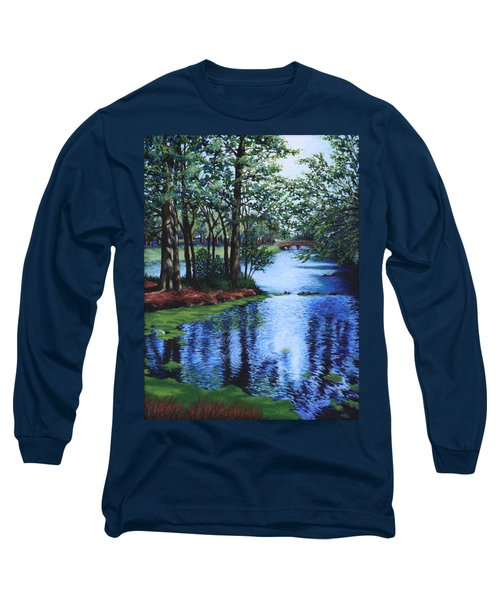 Long Sleeve T-Shirt featuring the painting Dancing Waters by Penny Birch-Williams