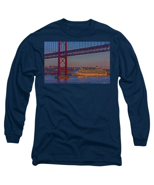 Dawn On The Harbor Long Sleeve T-Shirt by Hanny Heim
