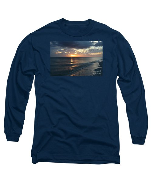 Days End Over Sanibel Island Long Sleeve T-Shirt by Christiane Schulze Art And Photography