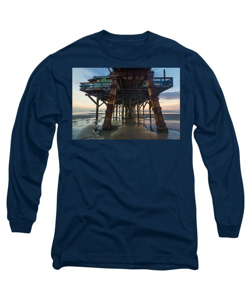 Daytona Beach Shores Pier Long Sleeve T-Shirt