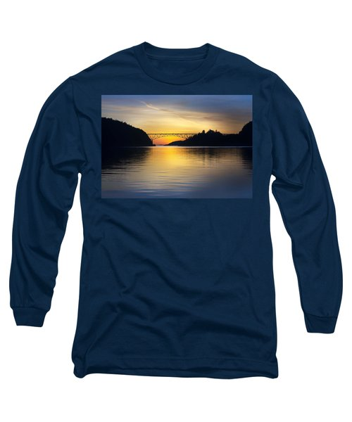 Deception Pass Bridge Long Sleeve T-Shirt by Sonya Lang