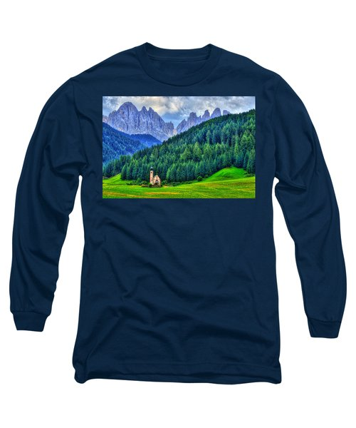 Deep In The Mountains Long Sleeve T-Shirt by Midori Chan