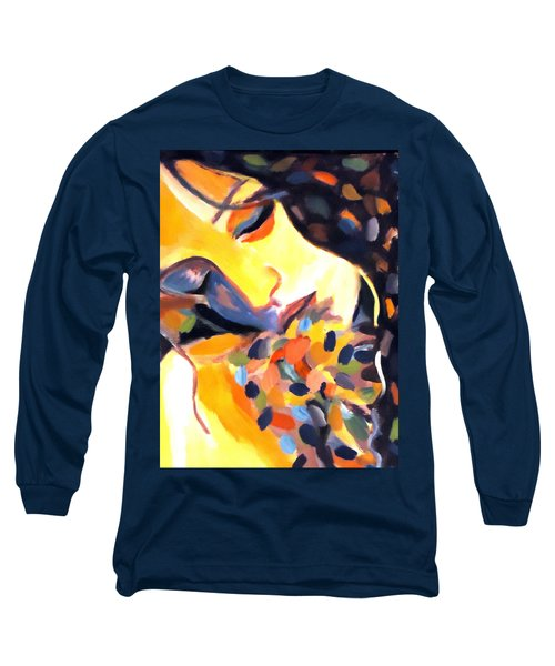 Long Sleeve T-Shirt featuring the painting Delight by Helena Wierzbicki