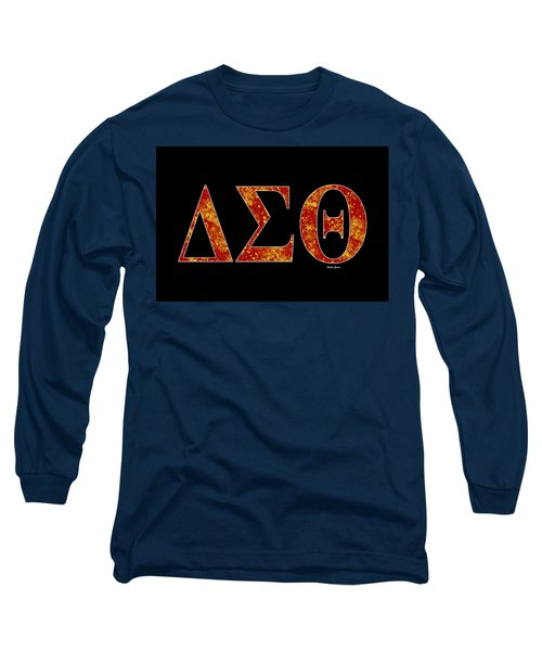 Long Sleeve T-Shirt featuring the digital art Delta Sigma Theta - Black by Stephen Younts