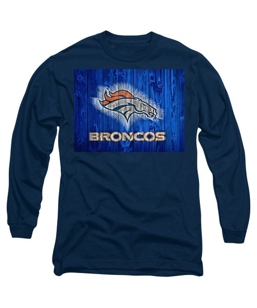Denver Broncos Barn Door Long Sleeve T-Shirt