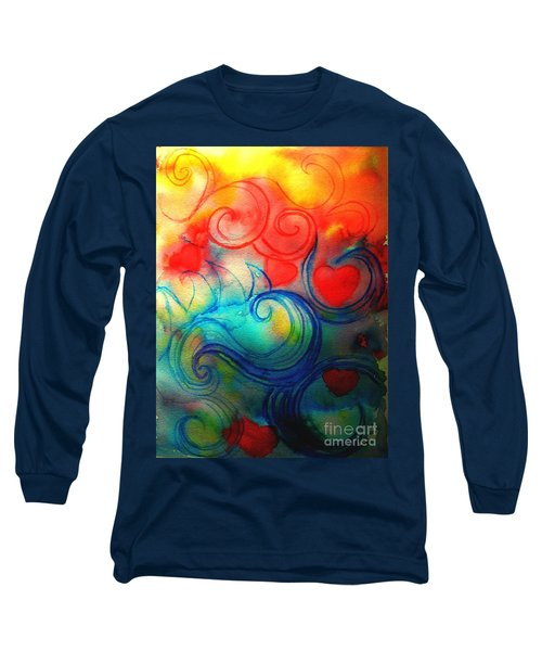 Long Sleeve T-Shirt featuring the painting Depths Of His Love by Hazel Holland