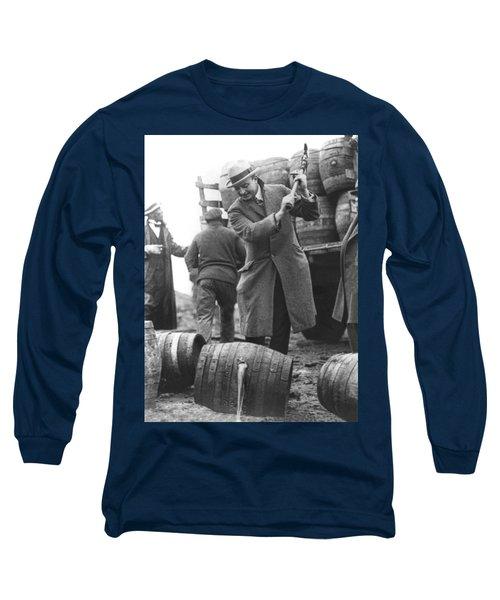 Destroying Barrels Of Beer Long Sleeve T-Shirt